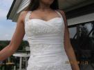 Sprzedam długą suknię ślubną Nidzica