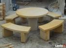 ławki i stoły z kamienia, piaskowiec Kamienna Góra