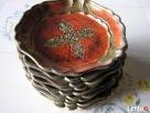 Drewniane malowana ręcznie talerzyki- PODSTAWKI 9 sztuk Łącko