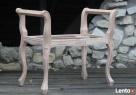 Stylowe ławki P210, P211 drewniana rama surowa Łódź