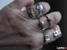 Antyk stare srebrne pierścionki - srebro lata 70 Nowy Sącz