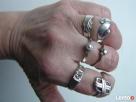 Antyk stare srebrne pierścionki - srebro lata 70 - Nowy Sącz