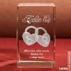 Kryształ 3D z motywem Dwóch Serc w prezencie na Walentynki.