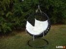 Kosz, fotel bujany wiszący z grubej wikliny - HIT - 5