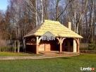 Garaż drewniany, garaże drewniane projekt wiata samochodowa - 1
