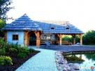 Garaż drewniany, garaże drewniane projekt wiata samochodowa - 5