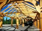 Garaż drewniany, garaże drewniane projekt wiata samochodowa - 4