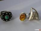 Srebrny stary pierścionek z bursztynem BAŁTYCKIM INKLUZJE-bi Nowy Sącz