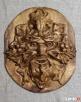 Głowa Liść - Płaskorzeźba Ludowa Spytkowice