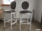 Hoker barowy styl francuski, włoski stołek krzesło medalion