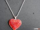 Serce srebrne Svarowkiego kryształki Walentyki czerwone Nowy Sącz