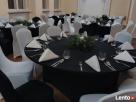 elastyczny,ELASTYCZNE POKROWCE na stoły,czarne-wynajem Poznań
