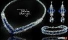 Biżuteria Ślubna Swarovski pink - blue Nysa