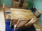 drewniany rozkładany stół nogi proste meble kolonialne mango - 7