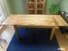 drewniany rozkładany stół nogi proste meble kolonialne mango - 5