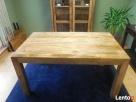 drewniany rozkładany stół nogi proste meble kolonialne mango Limanowa