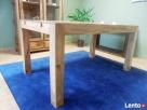drewniany rozkładany stół nogi proste meble kolonialne mango - 3