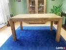 drewniany rozkładany stół nogi proste meble kolonialne mango - 2