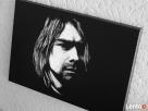 Kurt Cobain - Obraz ręcznie grawerowany na blasze... - 3