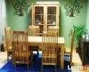 drewniany rozkładany stół+6 krzeseł komplet meble kolonialne - 1