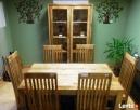 drewniany rozkładany stół+6 krzeseł komplet meble kolonialne - 4