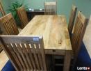 drewniany rozkładany stół+6 krzeseł komplet meble kolonialne - 3