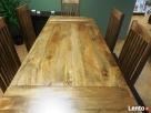 drewniany rozkładany stół+6 krzeseł komplet meble kolonialne - 7