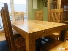 drewniany rozkładany stół+6 krzeseł komplet meble kolonialne - 5