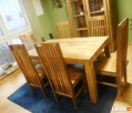 drewniany rozkładany stół+6 krzeseł komplet meble kolonialne - 2