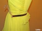 Żółta sukienka Wesele roz S 36 Mango tjulowa Wys 10zł - 3