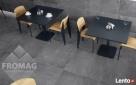 Płytki gresowe na podłogę ścianę Monetgo Antracyt jak beton