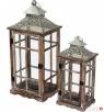 latarnia lampion drewniany rustykalny stylizowany 2 sztuki Limanowa