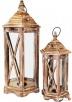lampion drewniany postarzany komplet 2 sztuki latarnia Limanowa