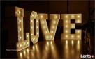 Napis LOVE świecący ślub wesele Myślenice Kraków Wieliczka Myślenice