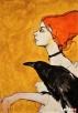 Akryl na płótnie - obraz ZWIERZĘ MOCY artystki A. Laube Katowice