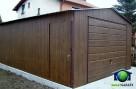 Garaże Blaszane 4x6 ORZECH Blaszaki drewnopodobne - 3
