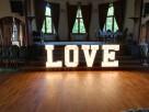 Napis LOVE podświetlany - Dzierżoniów