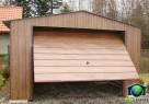 Garaże Blaszane 4x6 ORZECH Blaszaki drewnopodobne - 6
