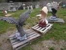Ozdoba do ogrodu figura rzeźba ogrodowa orzeł - 4