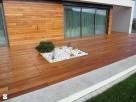 tarasy drewniane modrzew , zadaszenie poliweglan