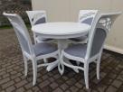 Krzesło prowansalskie tapicerowane białe Nowe - 1