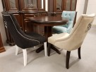Krzesło pikowane z kołatką i pinezkami Nowe - 1