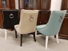 Krzesło pikowane z kołatką i pinezkami Nowe - 3