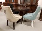 Krzesło pikowane z kołatką i pinezkami Nowe - 2