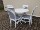 Krzesło prowansalskie tapicerowane białe Nowe - 4
