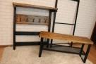 komplet do przedpokoju , meble loft vintage wieszak siedzisk