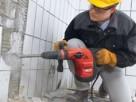 Skuwanie Glazury tynku betonu Wyburzanie ścian,rozbiórka - 3
