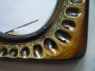 Antyk Lustro w ceramicznej ramie Oprawa - ceramika PRL - 3