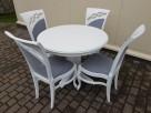 Krzesło prowansalskie tapicerowane białe do salonu jadalni - 2