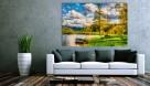 PEJZAŻ 2 obraz na w 100% bawełnianym płótnie 120x80cm - 3